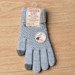 *BRAELYN* Gray Knitted Touch-Screen Fashion Gloves